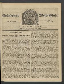 Grünberger Wochenblatt, No. 71. (3. September 1860)