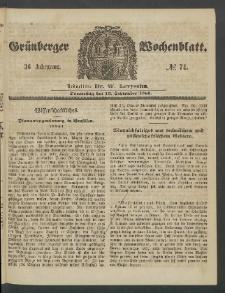 Grünberger Wochenblatt, No. 74. (13. September 1860)