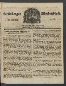 Grünberger Wochenblatt, No. 77. (24. September 1860)