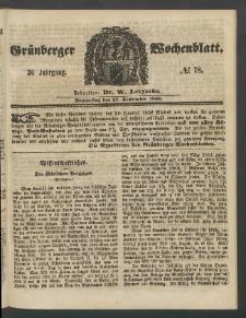 Grünberger Wochenblatt, No. 78. (27. September 1860)