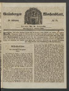 Grünberger Wochenblatt, No. 79. (1. Oktober 1860)