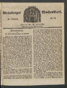 Grünberger Wochenblatt, No. 83. (15. Oktober 1860)