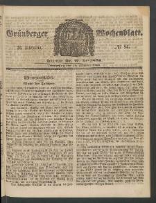 Grünberger Wochenblatt, No. 84. (18. Oktober 1860)