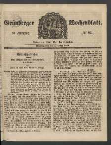 Grünberger Wochenblatt, No. 85. (22. Oktober 1860)