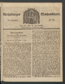 Grünberger Wochenblatt, No. 86. (25. Oktober 1860)