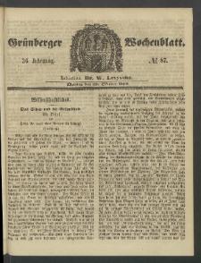 Grünberger Wochenblatt, No. 87. (29. Oktober 1860)