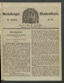 Grünberger Wochenblatt, No. 89. (5. November 1860)