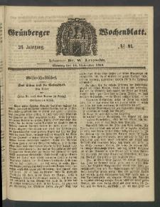 Grünberger Wochenblatt, No. 91. (12. November 1860)