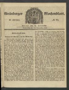 Grünberger Wochenblatt, No. 92. (15. November 1860)