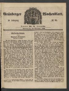Grünberger Wochenblatt, No. 93. (19. November 1860)