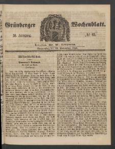 Grünberger Wochenblatt, No. 93. [właść. 94] (22. November 1860)