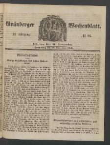 Grünberger Wochenblatt, No. 96. (29. November 1860)
