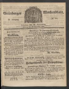 Grünberger Wochenblatt, No. 101. (17. December 1860)