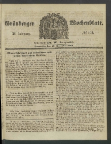 Grünberger Wochenblatt, No. 102. (20. December 1860)