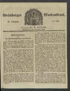 Grünberger Wochenblatt, No. 103. (24. December 1860)