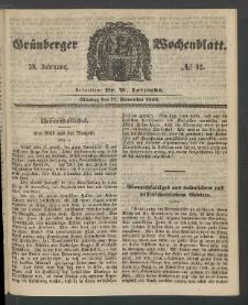 Grünberger Wochenblatt, No. 92. (17. November 1862)