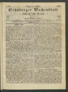 Grünberger Wochenblatt: Zeitung für Stadt und Land, No. 10. (5. Februar 1865)