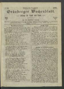 Grünberger Wochenblatt: Zeitung für Stadt und Land, No. 14. (19. Februar 1865)