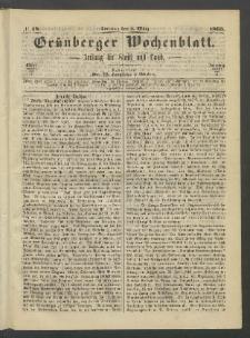 Grünberger Wochenblatt: Zeitung für Stadt und Land, No. 18. (5. März 1865)