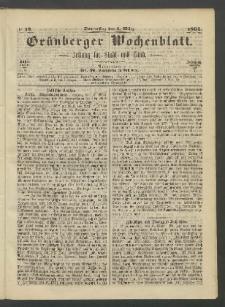 Grünberger Wochenblatt: Zeitung für Stadt und Land, No. 19. (9. März 1865)