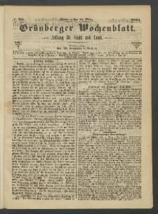 Grünberger Wochenblatt: Zeitung für Stadt und Land, No. 20. (12. März 1865)