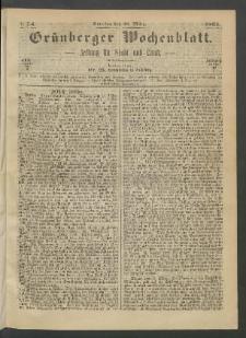 Grünberger Wochenblatt: Zeitung für Stadt und Land, No. 24. (26. März 1865)