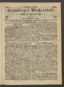 Grünberger Wochenblatt: Zeitung für Stadt und Land, No. 28. (9. März 1865)