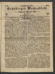 Grünberger Wochenblatt: Zeitung für Stadt und Land, No. 31. (20. April 1865)