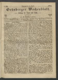 Grünberger Wochenblatt: Zeitung für Stadt und Land, No. 32. (23. April 1865)