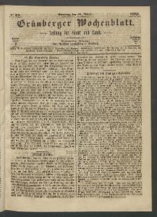Grünberger Wochenblatt: Zeitung für Stadt und Land, No. 34. (30. April 1865)
