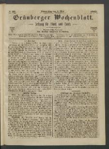 Grünberger Wochenblatt: Zeitung für Stadt und Land, No. 35. (4. Mai 1865)