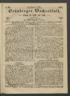 Grünberger Wochenblatt: Zeitung für Stadt und Land, No. 36. (7. Mai 1865)