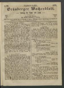Grünberger Wochenblatt: Zeitung für Stadt und Land, No. 38. (14. Mai 1865)