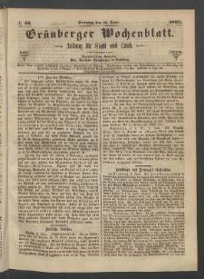 Grünberger Wochenblatt: Zeitung für Stadt und Land, No. 46. (11. Juni 1865)