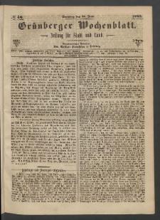 Grünberger Wochenblatt: Zeitung für Stadt und Land, No. 50. (25. Juni 1865)
