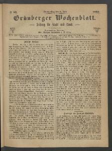 Grünberger Wochenblatt: Zeitung für Stadt und Land, No. 53. (6. Juli 1865)