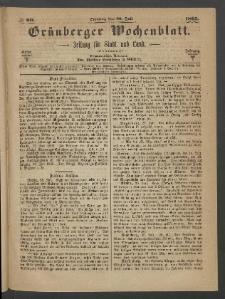 Grünberger Wochenblatt: Zeitung für Stadt und Land, No. 60. (30. Juli 1865)