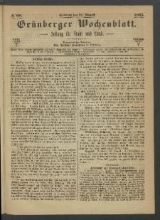 Grünberger Wochenblatt: Zeitung für Stadt und Land, No. 68. (27. August 1865)