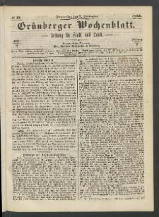 Grünberger Wochenblatt: Zeitung für Stadt und Land, No. 71. (7. September 1865)