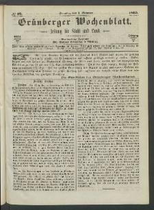 Grünberger Wochenblatt: Zeitung für Stadt und Land, No. 78. (1. October 1865)