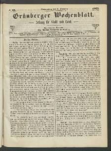 Grünberger Wochenblatt: Zeitung für Stadt und Land, No. 79. (5. October 1865)
