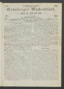 Grünberger Wochenblatt: Zeitung für Stadt und Land, No. 81. (12. October 1865)