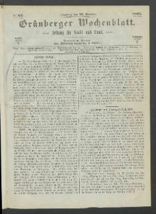 Grünberger Wochenblatt: Zeitung für Stadt und Land, No. 82. (15. October 1865)