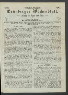 Grünberger Wochenblatt: Zeitung für Stadt und Land, No. 84. (22. October 1865)