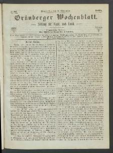 Grünberger Wochenblatt: Zeitung für Stadt und Land, No. 87. (2. November 1865)