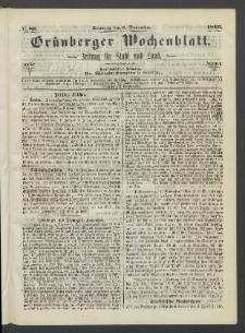 Grünberger Wochenblatt: Zeitung für Stadt und Land, No. 88. (5. November 1865)