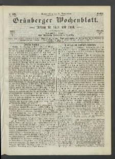 Grünberger Wochenblatt: Zeitung für Stadt und Land, No. 89. (9. November 1865)