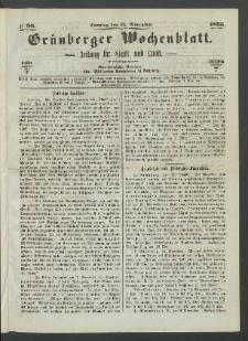 Grünberger Wochenblatt: Zeitung für Stadt und Land, No. 90. (12. November 1865)