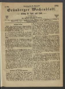 Grünberger Wochenblatt: Zeitung für Stadt und Land, No. 94. (26. November 1865)