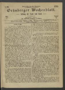 Grünberger Wochenblatt: Zeitung für Stadt und Land, No. 95. (30. November 1865)